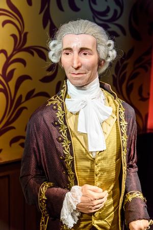 VIENNA, AUSTRIA - AUGUST 08, 2015: Joseph Haydn Figurine At Madame Tussauds Wax Museum.