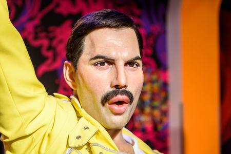 VIENNA, AUSTRIA - August 08, 2015: Freddie Mercury Figurine Al Madame Tussauds.