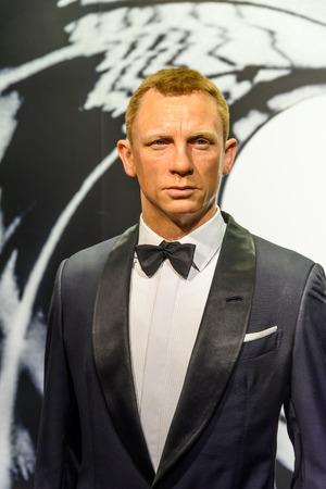 VIENNA, AUSTRIA - AUGUST 08, 2015: Daniel Craig Figurine At Madame Tussauds Wax Museum.