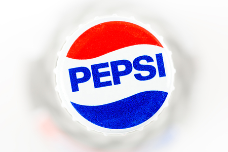 carbonated: BUCHAREST, ROMANIA - JANUARY 10, 2016: Pepsi is one of the most famous carbonated soft drink sold in stores, restaurants, and vending machines around the world. Editorial