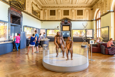 museums: VIENNA, AUSTRIA - AUGUST 10, 2015: People Visit The Museum of Natural History Naturhistorisches Museum The Largest Natural History Museum In Vienna.