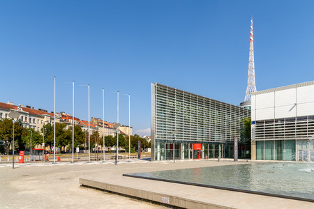factors: VIENNA, AUSTRIA - AUGUST 09, 2015: Messe Wien Or The Trade Fair Of Vienna Is The Biggest Trade Fair In Austria And One Of The Most Important Economic Factors Of Vienna City.