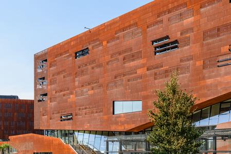 wien: VIENNA, AUSTRIA - AUGUST 09, 2015: Teaching Center of Vienna University of Economics and Business Wirtschaftsuniversitat Wien the largest University of business in Europe. Editorial
