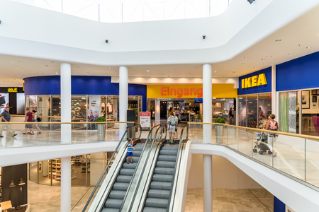 go inside: VIENNA, AUSTRIA - AUGUST 10, 2015: IKEA Store is a Swedish company registered in the Netherlands that designs and sells ready-to-assemble furniture, appliances and home accessories.