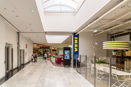 home accessories: VIENNA, AUSTRIA - AUGUST 10, 2015: IKEA Store is a Swedish company registered in the Netherlands that designs and sells ready-to-assemble furniture, appliances and home accessories.