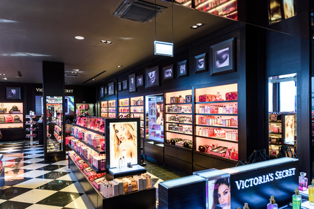 victoria secret: VIENNA, AUSTRIA - AUGUST 12, 2015: Founded in 1977 Victorias Secret is an American designer, manufacturer and marketer of womens premium lingerie, womenswear and beauty products. Editorial