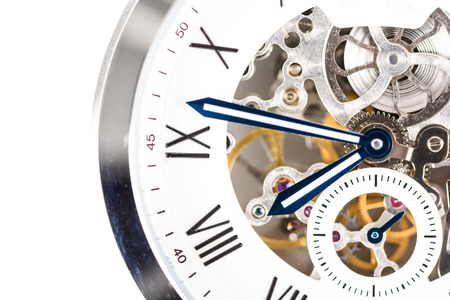 visible: Automatic Men Watch With Visible Mechanism Stock Photo