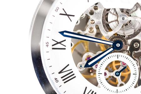 Reloj automático de los hombres Con mecanismo visible Foto de archivo