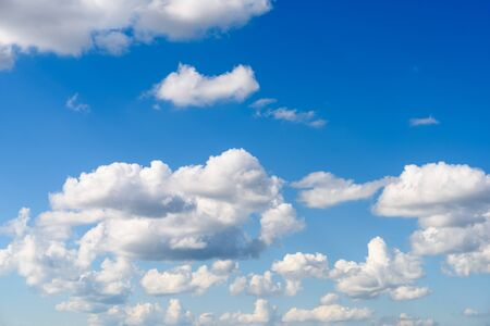 cumulus: White Cumulus Clouds On Blue Sky