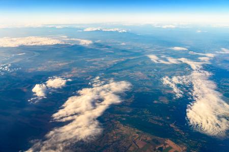 Terra Foto Da 10.000m (32.000 piedi) Above Ground Archivio Fotografico