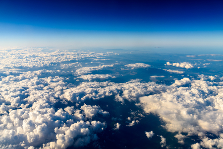 Vue aérienne de la planète Terre vue du 40000 pieds d'altitude