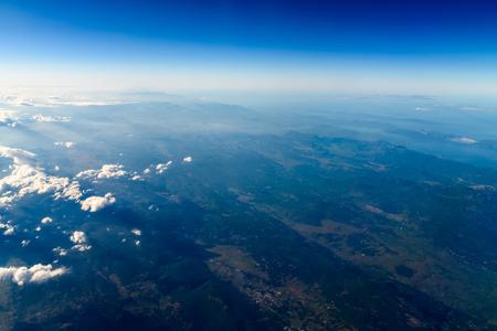 satelite: High Altitude Photo Of Planet Earth Horizon