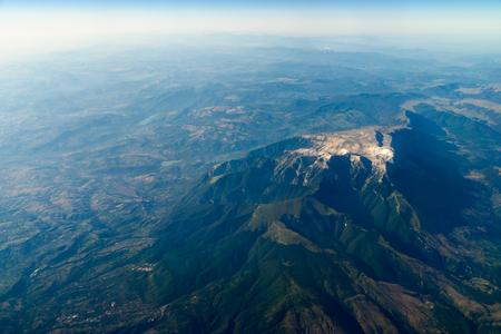 惑星地球の地平線の高高度写真 写真素材