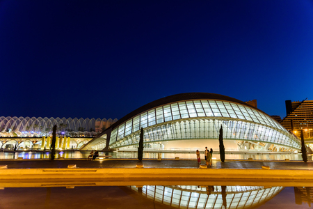 hemispheric: VALENCIA, SPAIN - JULY 21, 2016: Hemispheric of Arts of City of Arts and Sciences is an entertainment based cultural and architectural complex in the city of Valencia.