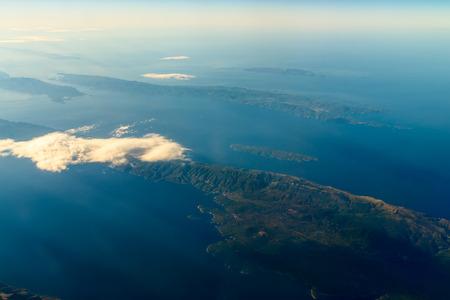 satelite: Earth Islands And Mediterranean Sea At 10.000m Altitude Above Ground