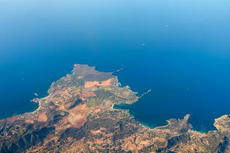 satelite: Palma de Mallorca And Balearic Sea At 10.000m Altitude Above Ground