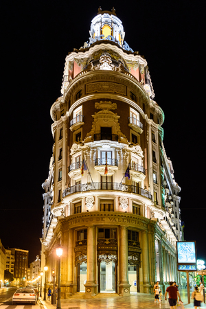 VALENCIA, SPAIN - JULY 23, 2016: Founded in 1900 Bank of Valencia (Banco de Valencia) is the sixth bank in Spain, and has its headquarters in the city of Valencia.