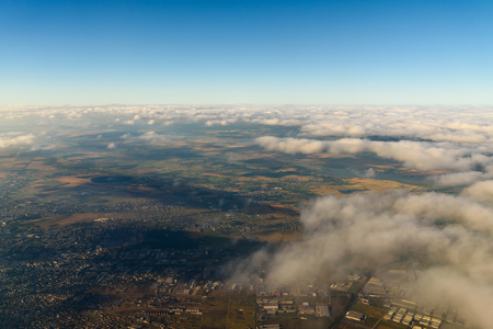 satelite: Aerial Photo Of Earth Horizon Stock Photo