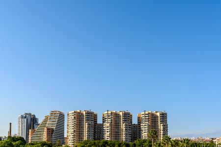 valencia: Valencia City Skyline In Spain Stock Photo