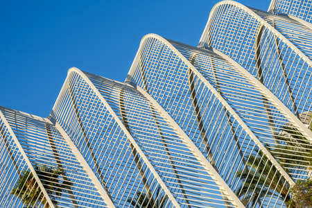 parametric: Abstract White Architecture On Blue Sky Stock Photo