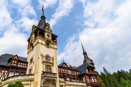 built in: Neo-Renaissance Peles Castle Built In 1873 In Carpathian Mountains