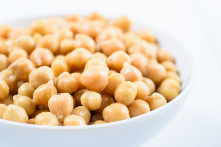 Chickpeas Bowl On White Background 写真素材