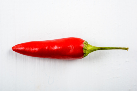 red chili pepper: Red Chili Pepper On White