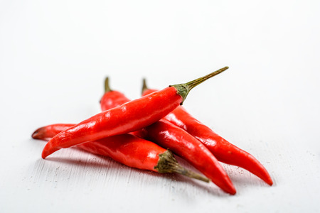 chili peppers: Red Chili Peppers On White