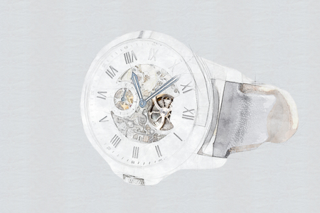 see through: Mechanical Watch Concept With Visible Mechanism