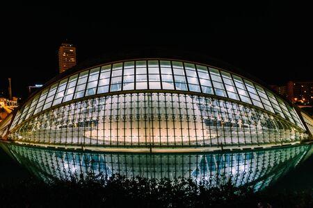 hemispheric: VALENCIA, SPAIN - JULY 25, 2016: Calatrava City Of Arts And Sciences In Downtown City Of Valencia.