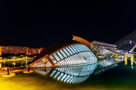 parametric: VALENCIA, SPAIN - JULY 25, 2016: Calatrava City Of Arts And Sciences In Downtown City Of Valencia.