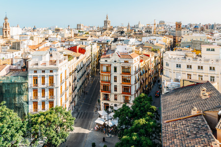 VALENCIA, SPAIN - AUGUST 01, 2016: Aerial Panoramic View Of Valencia City In Spain. Editorial