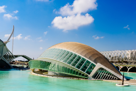 parametric: VALENCIA, SPAIN - JULY 22, 2016: Calatrava City Of Arts And Sciences In Downtown City Of Valencia.