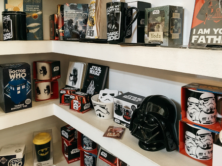 BUCHAREST, ROMANIA - MAY 06, 2017: Comics Souvenirs Available For Sale In Comic Book Store.