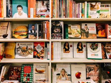 BUCHAREST, ROMANIA - MAY 06, 2017: Famous Cook Recipe Books For Sale In Library Book Store. Editorial