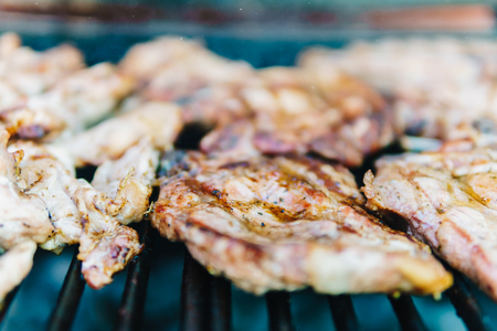 stakes: Chicken Stakes On Barbecue Grill