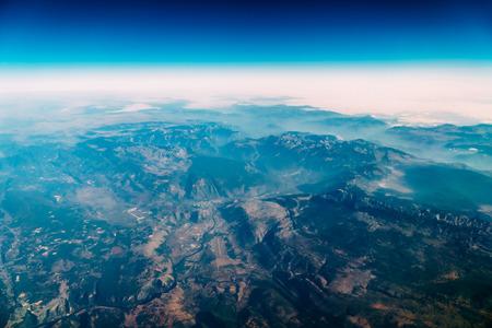 Airplane View Of Planet Earth Horizon Stock Photo