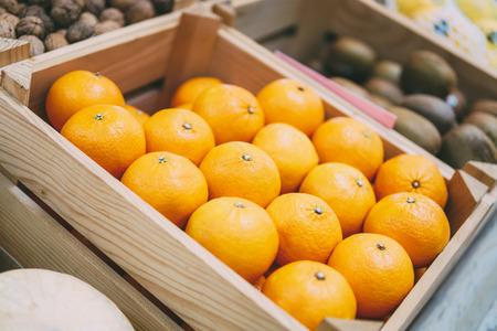 Oranges For Sale In Fruit Market