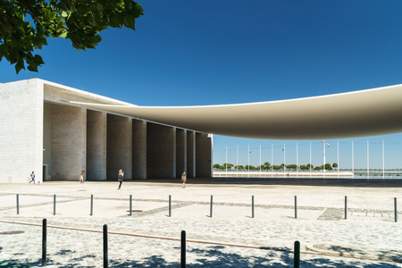 LISBON, PORTUGAL - AUGUST 10, 2017: Portuguese National Pavilion In Lisbon Was Built By Alvaro Siza Vieira For The 1998 Lisbon World Exposition. Editorial