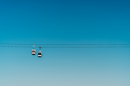 Cable Cars In Lisbon, Portugal