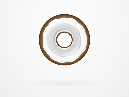 Coconut Donut Fruit Vector