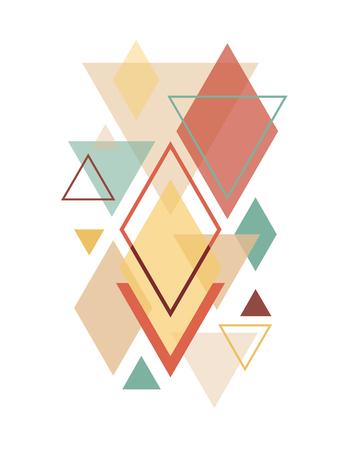 Minimalist Scandinavian Abstract Geometric Art 일러스트