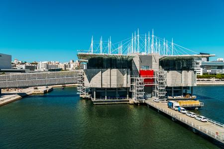 LISBON, PORTUGAL - AUGUST 15, 2017: Aerial View Of Lisbon Oceanarium that is located in the Parque das Nacoes and is the largest indoor aquarium in Europe.