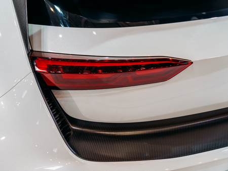 Back Lights Of Luxurious Sports Car