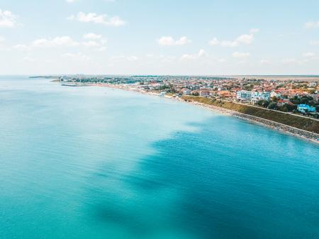 Aerial View Of Costinesti Beach Resort In Romania At The Black Sea