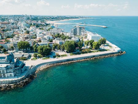 Aerial View Of Constanta City Skyline In Romania