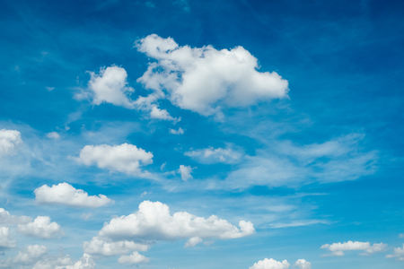 Blue Sky And White Clouds Nature 写真素材