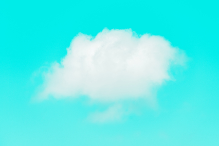 White Simple Cloud On Blue Sky