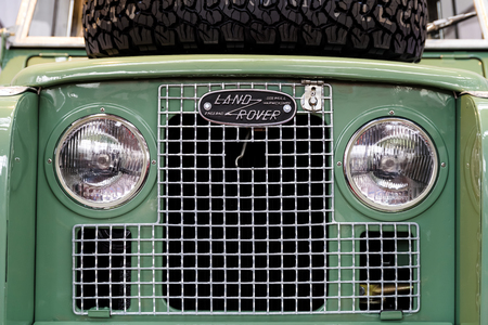 BUCHAREST, ROMANIA - OCTOBER 21, 2016: Founded in 1948 Land Rover is a brand of the British car manufacturer Jaguar, which specializes in four-wheel-drive vehicles.
