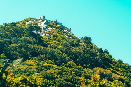 Medieval Castle Of The Moors (Castelo dos Mouros) built in 8th and 9th century by the berbers in Sintra, Portugal